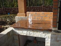 Камин-барбекю из Капустянского гранита №2