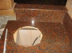 Камин-барбекю из Капустянского гранита №9