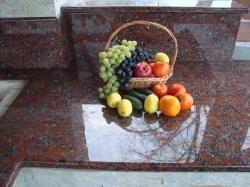 Камин-барбекю из Капустянского гранита №13