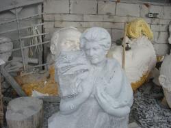Скульптура из Янцевского гранита №2