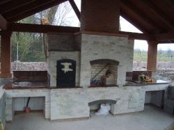 Камин-барбекю из Капустянского гранита №14