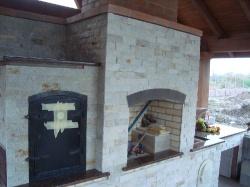 Камин-барбекю из Капустянского гранита №12