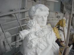 Скульптура из Янцевского гранита №1