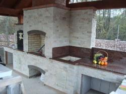 Камин-барбекю из Капустянского гранита №17