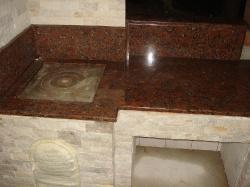 Камин-барбекю из Капустянского гранита №6